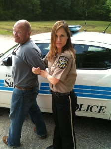 Arresting Eric Cash 3 on set of RJ