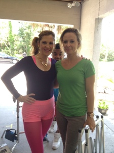 With the lovely and talented make up artist Tiffany Hudson